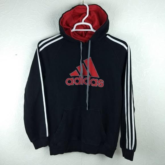 adidas 3 stripe hoodie mens